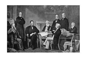 The First Reading of the Proclamation of Emancipation, 1863 by Francis Carpenter