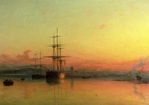 Dead Calm - Sunset at the Bight of Exmouth by Francis Danby