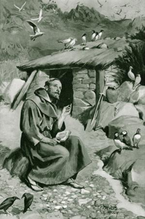Saint Cuthbert, Farne Isl by Francis E Hiley