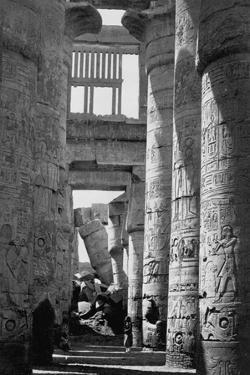 Incised Columns of Temple of Amon by Francis Frith