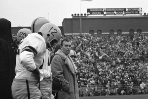 Coach Murray Warmath, Minnesota- Iowa Game, Minneapolis, Minnesota, November 1960 by Francis Miller