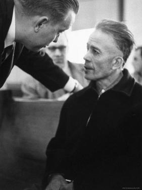 Mass Murderer Ed Gein Getting Advice from His Lawyer, William Belter Waushara County by Francis Miller