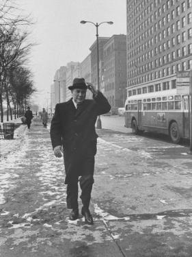 Mayor Richard J. Daley Walking Through the City by Francis Miller