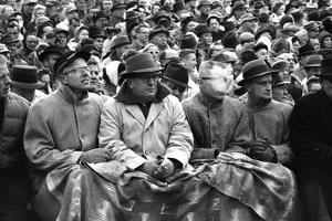 Spectators at the Minnesota- Iowa Game, Minneapolis, Minnesota, November 1960 by Francis Miller