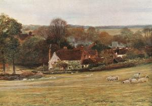 Milton's Cottage and Garden, Chalfont St Giles by Francis S. Walker