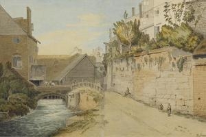 Exeter: Between the Quay Gate and West Gate Outside the City Walls, 1791 by Francis Towne