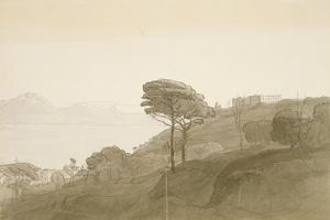 No.1621 View of the Bay of Naples and Mt. Lactarius, 1781 (W/C, Ink and Wash on Paper) by Francis Towne