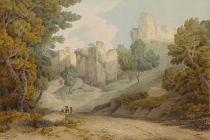 Okehampton Castle, 1794 by Francis Towne