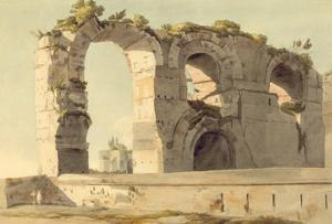 The Claudian Aqueduct, Rome, 1785 (W/C, Pen, Ink and Graphite on Paper) by Francis Towne
