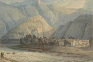 The Grange at the Head of the Keswick Lake, 1786 (W/C and Ink on Paper) by Francis Towne
