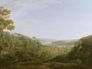 The Valley of the Teign, Devonshire, 1780 by Francis Towne