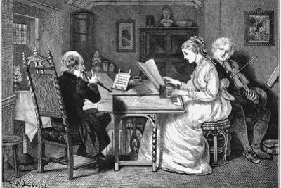 Making Music, London, 1874 by Francis Wilfrid Lawson