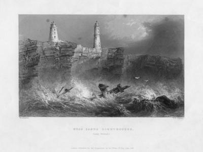 Ness Sands Lighthouses, Near Bristol, Goucestershire, 1841