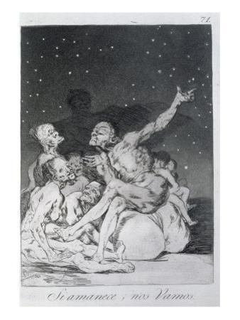 193-0082171 When Day Breaks We Will Be Off, Plate 71 of 'Los Caprichos', 1799 by Francisco de Goya