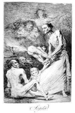 Blow, 1799 by Francisco de Goya
