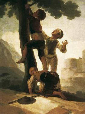 Boys Climbing a Tree by Francisco de Goya