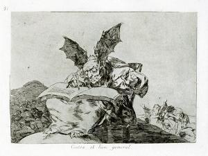 Contra El Bien General (Against the Common Goo), 1810-1820 by Francisco de Goya