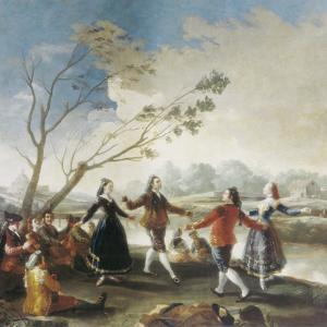 Dance on the Banks of the River Manzanares by Francisco de Goya