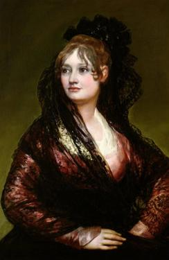 Dona Isabel De Porcel, Exh. 1805 by Francisco de Goya