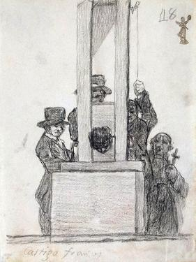 French Penalty, Between 1824 and 1828 by Francisco de Goya