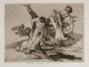 Grande Hazaña! Con Muertos! (A Heroic Feat! with Dead Men) Plate 39 from the Disasters of War (Los by Francisco de Goya