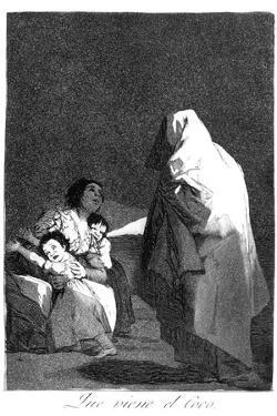 Here Comes the Bogeyman, 1799 by Francisco de Goya