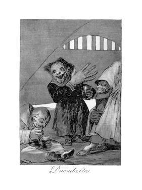 Hobgoblins, 1799 by Francisco de Goya