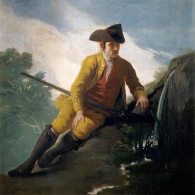 Hunter beside a Spring, 1786-1787 by Francisco de Goya