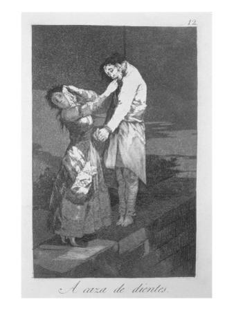 Out Hunting for Teeth, Plate 12 of 'Los Caprichos', Pub. 1799 by Francisco de Goya