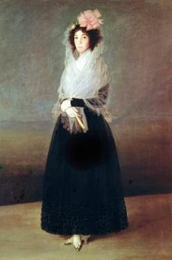 Portrait of the Countess of Carpio (1757-95) Marquesa De La Solana, circa 1793 by Francisco de Goya