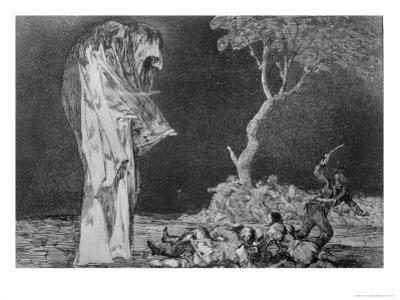 Riddle of Fear, Plate 2 of Proverbs, 1819-23, Pub. 1864 by Francisco de Goya