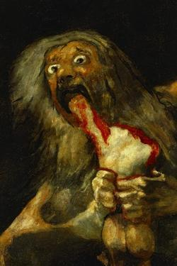 Saturn Devouring One of His Sons, Detail, from the Series of Black Paintings by Francisco de Goya