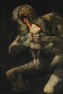 Saturn Evouring One of His Sons, 1820-1823, Spanish School by Francisco de Goya