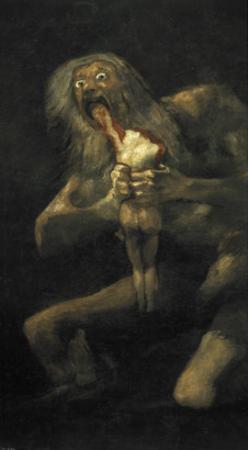 Saturn by Francisco de Goya