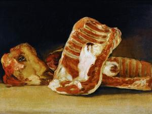Still Life of Sheep's Ribs and Head (The Butcher's Counter) by Francisco de Goya