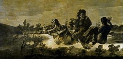 The Fates (Atropos), 1820-1823 by Francisco de Goya