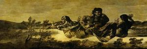 The Fates (Atropos), One of the Black Paintings from the Quinta Del Sordo, Goya's House, 1819-1823 by Francisco de Goya