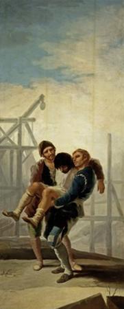 The Injured Mason, 1786-1787 by Francisco de Goya