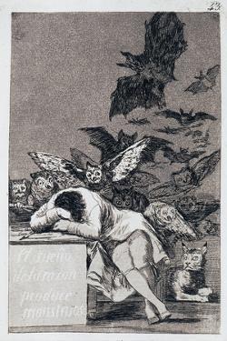 The Sleep of Reason Produces Monsters. (Capricho No 4) by Francisco de Goya