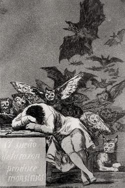 "The Sleep of Reason Produces Monsters, from ""Los Caprichos"" by Francisco de Goya"