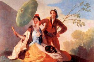 The Umbrellas by Francisco de Goya