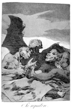 They Spruce Themselves Up, 1799 by Francisco de Goya