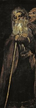 Two Old Men (Two Monk) by Francisco de Goya