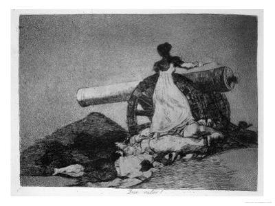 "What Courage!, Plate 7 of ""The Disasters of War"" by Francisco de Goya"