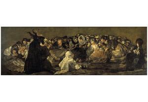 Francisco de Goya y Lucientes (Pinturas Negras, Scene: Witches Sabbath) Art Poster