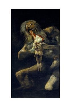 Saturn devouring one of his sons, 1820-1823 by Francisco de Goya y Lucientes