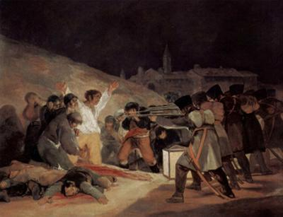 Francisco de Goya y Lucientes (The shooting of the insurgents on 3 May 1808 in Madrid) Art Post