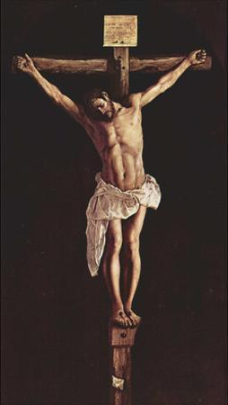 Francisco de Zurbarán (Christ on the Cross) Art Poster Print