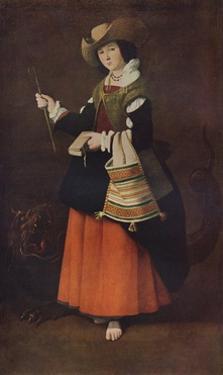 Saint Margaret of Antioch, c1630, (1937) by Francisco de Zurbaran