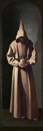 St. Francis Contemplating a Skull, C.1635 by Francisco de Zurbaran